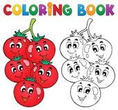 Het kleuren boek plantaardig thema 3 Stock Foto
