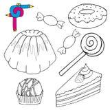 Het kleuren de inzameling van beeldcakes Royalty-vrije Stock Foto