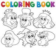 Het kleuren de portretten van het boeksprookje Stock Foto's