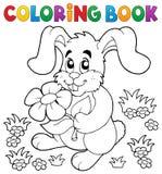 Het kleuren het konijnthema 3 van boekpasen Royalty-vrije Stock Foto