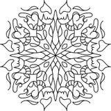 Het kleuren mandala met bloemenelementen Stock Foto