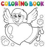 Het kleuren onderwerp 3 van de boekcupido Stock Fotografie
