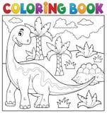 Het kleuren onderwerp 6 van de boekdinosaurus Stock Fotografie