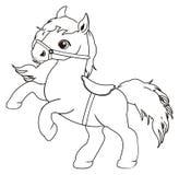 Het kleuren paard en zadel vector illustratie