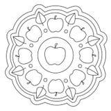 Het kleuren van Eenvoudig Apple Mandala Royalty-vrije Stock Foto