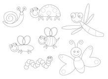 Het kleuren van insecten Stock Foto's