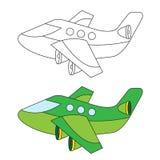 Het kleuren Vliegtuigvector voor Jong geitje Royalty-vrije Stock Afbeelding