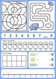 Het kleuren, het volgen, aanpassing en tekenobject van aantal stock illustratie