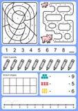 Het kleuren, het volgen, aanpassing en tekenobject van aantal vector illustratie