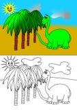 Het kleurende boek van Dino Royalty-vrije Stock Foto's