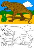 Het kleurende boek van Dino Royalty-vrije Stock Foto