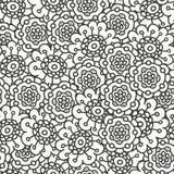 Het kleurende patroon van de boekbloem, vectorillustratie Royalty-vrije Stock Afbeeldingen