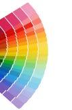 Het kleurenpalet op wit wordt geïsoleerd dat Stock Foto