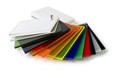 Het kleurenpalet van acryl stock foto