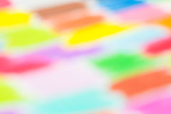 Het kleurpotlood defocused achtergrond royalty-vrije stock fotografie