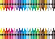 Het kleurpotlood van de grens Stock Afbeeldingen