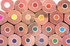 Het kleurpotloodmacro van het potlood Royalty-vrije Stock Afbeeldingen