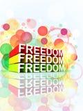Het kleurrijke 3d bericht van de vrijheid Stock Foto