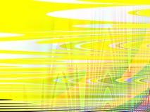Het kleurrijke Abstracte geelgroene kubistische schilderen Stock Foto