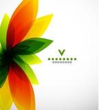 Het kleurrijke abstracte malplaatje van het bloemontwerp stock illustratie