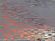 Het kleurrijke Abstracte roze blauwe tegel schilderen Stock Afbeeldingen