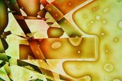 Het kleurrijke abstracte vloeibare schilderen Stock Afbeelding