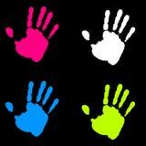 Het kleurrijke Af:drukken van de Verf van de Hand Royalty-vrije Stock Fotografie