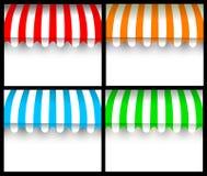 Het kleurrijke afbaarden Stock Foto's