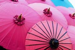 Het kleurrijke art. van de paraplu uitstekende stijl Stock Foto's
