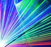 Het kleurrijke beeld van laserlichten Stock Afbeelding