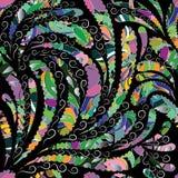 Het kleurrijke bloemen naadloze patroon van Paisley royalty-vrije illustratie