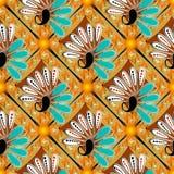 Het kleurrijke bloemen vector naadloze patroon van Paisley Etnische stijlsamenvatting gevormde achtergrond Herhaal heldere decora royalty-vrije illustratie