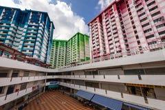 Het kleurrijke Centrum van gebouwen og Rochor Royalty-vrije Stock Afbeelding
