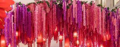 Het kleurrijke Chinese Nieuwjaar van de bloemdecoratie Stock Foto