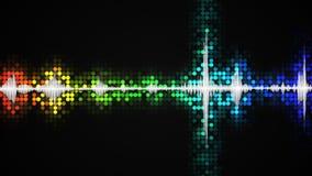 Het kleurrijke concept van de de equaliser abstracte partij van de regenbooggradiënt audio Stock Fotografie