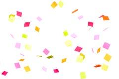 Het kleurrijke confettien vallen Royalty-vrije Stock Foto