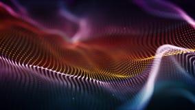 Het kleurrijke cyberoppervlakte futuristische 3D teruggeven met DOF Royalty-vrije Stock Fotografie