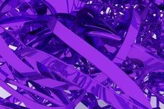 Het kleurrijke 3d teruggeven Abstracte CGI-samenstelling, geometrische bos van slordig koord Behang voor grafisch ontwerp royalty-vrije illustratie