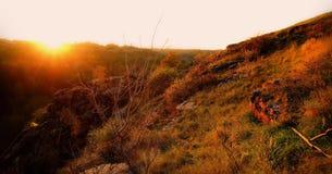 Het kleurrijke de herfstlandschap scen Royalty-vrije Stock Fotografie