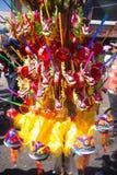 Het kleurrijke document van de draakambacht, traditioneel Chinees stuk speelgoed in Thailand royalty-vrije stock afbeeldingen