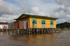 Het kleurrijke Dorp van het Water Royalty-vrije Stock Afbeelding