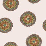 Het kleurrijke eenvoudige patroon van de krabbelbloem Royalty-vrije Stock Afbeelding