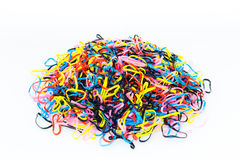 Het kleurrijke elastiekje Stock Foto