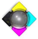 Het kleurrijke Embleem van het Metaal Royalty-vrije Stock Foto