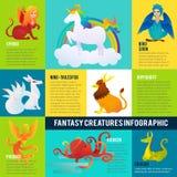 Het kleurrijke Fantastische Concept van Diereninfographic royalty-vrije illustratie