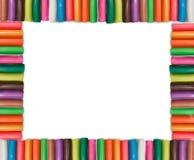 Het kleurrijke Frame van de Plasticine Stock Afbeeldingen
