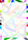 Het kleurrijke frame van de potlodenchaos royalty-vrije illustratie