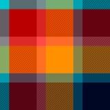 Het kleurrijke geruite naadloze patroon van de geruit Schots wollen stofstof, vector Royalty-vrije Stock Foto