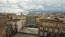 Het kleurrijke gezicht van Cagliari royalty-vrije stock foto