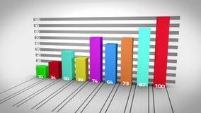 Het kleurrijke grafiek groeien vector illustratie